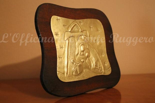 """Logo Comunità Mariana """"Le 5 pietre"""" a cesello"""