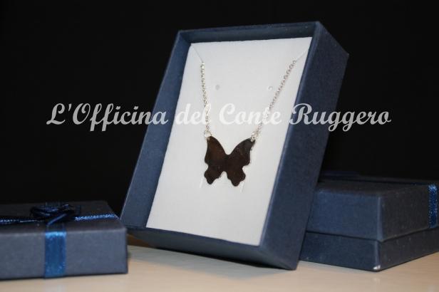 Ciondolo in argento a forma di Farfalla