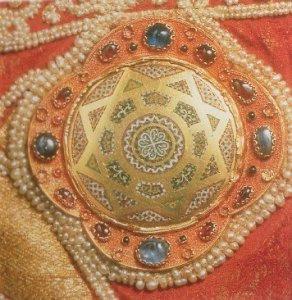 Borchia del mantello di Ruggero II- Palermo,XII secolo. Schatzkammer del Kunsthistorisches Museum-Vienna